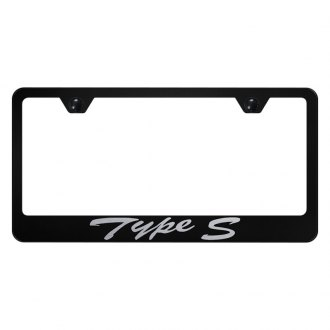 Autogold® - License Plate Frame with Script Laser Etched Type S Logo