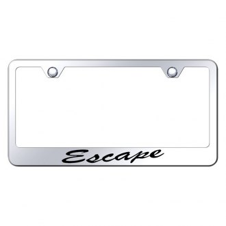 Autogold® - Chrome License Plate Frame with Script Laser Etched Escape Logo