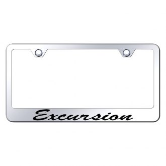 Autogold® - License Plate Frame with Script Laser Etched Excursion Logo