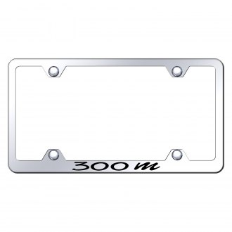 Autogold® - Wide Body Chrome License Plate Frame with Laser Etched 300M Logo