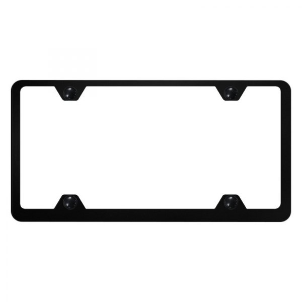 Autogold® - Plain 4-Hole Wide Body License Plate Frame