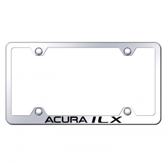 Autogold® - Wide Body Chrome License Plate Frame with Laser Etched Acura ILX Logo