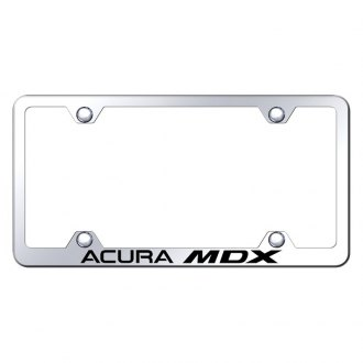 Autogold® - Wide Body Chrome License Plate Frame with Laser Etched Acura MDX Logo