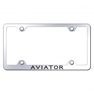 Autogold® - Wide Body License Plate Frame with Laser Etched Aviator Logo