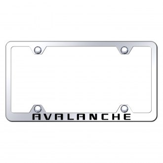 Autogold® - Wide Body Chrome License Plate Frame with Laser Etched Avalanche Logo