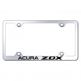 Autogold® - Wide Body Chrome License Plate Frame with Laser Etched Acura ZDX Logo