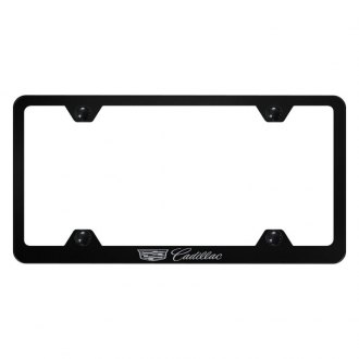 Autogold® - Wide Body License Plate Frame with Laser Etched Cadillac New Logo