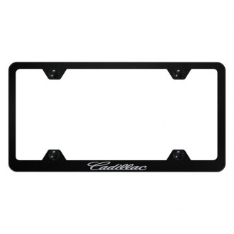 Autogold® - Wide Body License Plate Frame with Laser Etched Cadillac Logo