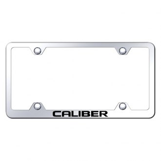 Autogold® - Wide Body Chrome License Plate Frame with Laser Etched Caliber Logo