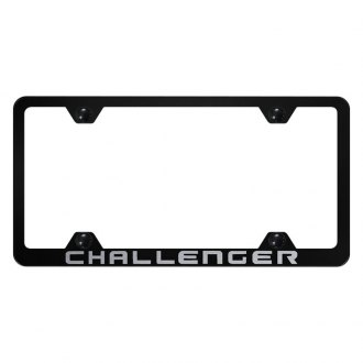 Autogold® - Wide Body License Plate Frame with Laser Etched Challenger Logo