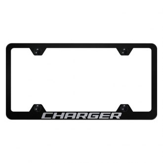 Autogold® - Wide Body License Plate Frame with Laser Etched Charger Logo