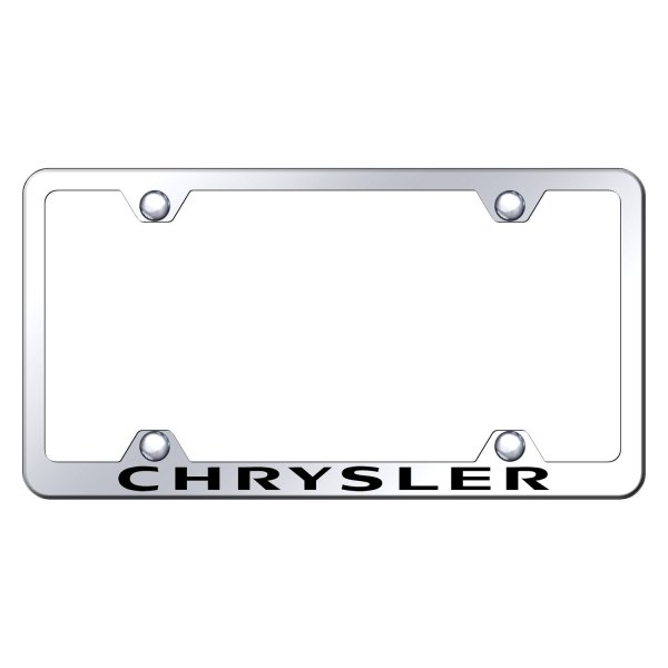 Autogold® - Wide Body License Plate Frame with Laser Etched Chrysler Logo