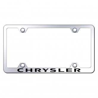 Autogold® - Wide Body Chrome License Plate Frame with Laser Etched Chrysler Logo