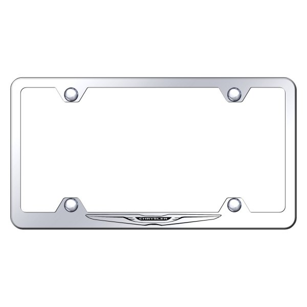 Autogold® - Wide Body License Plate Frame with Laser Etched Chrysler Only Logo