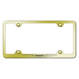 Autogold® - Wide Body Gold License Plate Frame with Laser Etched Chrysler Only Logo