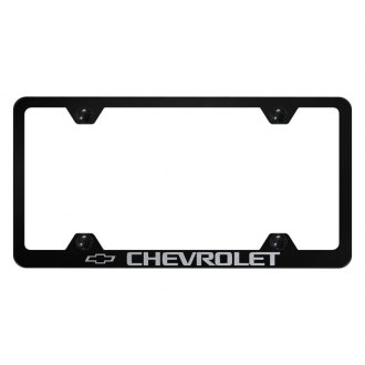 Autogold® - Wide Body License Plate Frame with Laser Etched Chevrolet Logo