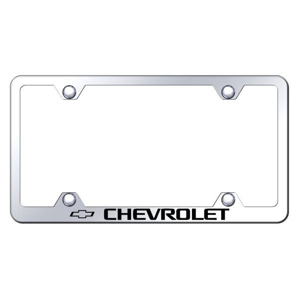 Autogold® LFW.CHV.EC - Wide Body Chrome License Plate Frame with ...