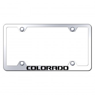 Autogold® - Wide Body Chrome License Plate Frame with Laser Etched Colorado Logo