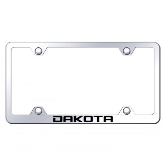 Autogold® - Wide Body Chrome License Plate Frame with Laser Etched Dakota Logo