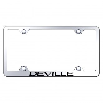 Autogold® - Wide Body Chrome License Plate Frame with Laser Etched Deville Logo