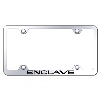 Autogold® - Wide Body Chrome License Plate Frame with Laser Etched Enclave Logo