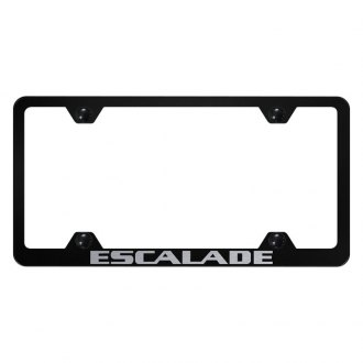 Autogold® - Wide Body License Plate Frame with Laser Etched Escalade Logo