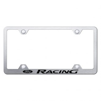 Autogold® - Wide Body License Plate Frame with Laser Etched Ford Racing Logo
