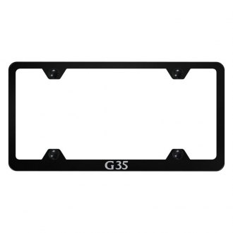 Autogold® - Wide Body License Plate Frame with Laser Etched G35 Logo