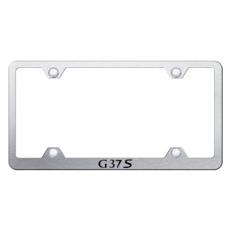 Autogold® - Wide Body License Plate Frame with Laser Etched G37S Logo