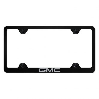 Autogold® - Wide Body License Plate Frame with Laser Etched GMC Logo