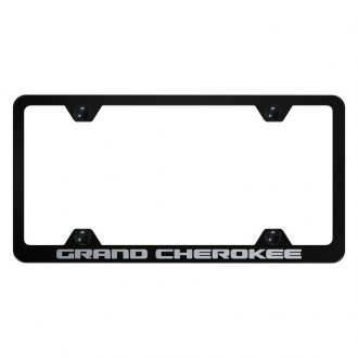 Autogold® - Wide Body License Plate Frame with Laser Etched Grand Cherokee Logo