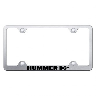 Autogold® - Wide Body License Plate Frame with Laser Etched H2 Logo