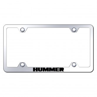 Autogold® - Wide Body Chrome License Plate Frame with Laser Etched Hummer Logo
