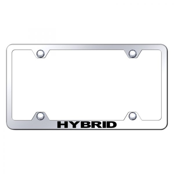 Autogold® - Wide Body License Plate Frame with Laser Etched Hybrid Logo
