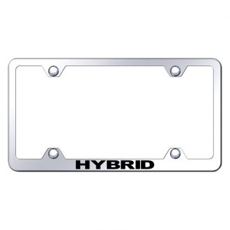 Autogold® - Wide Body Chrome License Plate Frame with Laser Etched Hybrid Logo