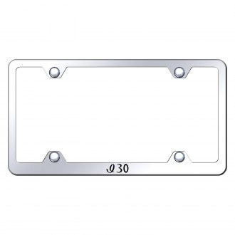 Autogold® - Wide Body Chrome License Plate Frame with Laser Etched I30 Logo