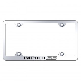 Autogold® - Wide Body Chrome License Plate Frame with Laser Etched Impala SS Logo