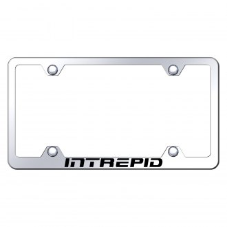 Autogold® - Wide Body Chrome License Plate Frame with Laser Etched Intrepid Logo