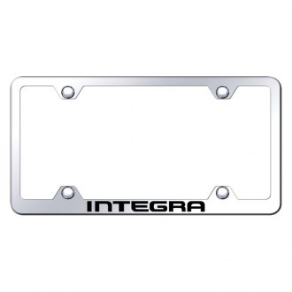 Autogold® - Wide Body Chrome License Plate Frame with Laser Etched Integra Logo