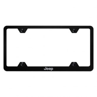 Autogold® - Wide Body License Plate Frame with Laser Etched Jeep Logo