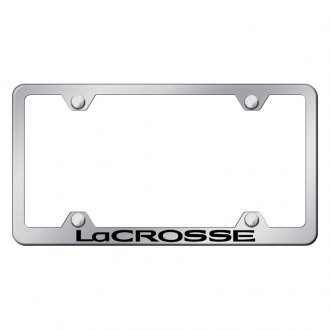 Autogold® - Wide Body Chrome License Plate Frame with Laser Etched LaCrosse Logo