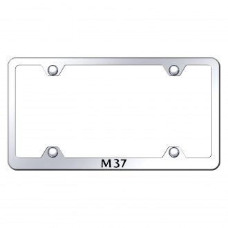 Autogold® - Wide Body Chrome License Plate Frame with Laser Etched M37 Logo