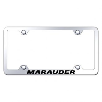 Autogold® - Wide Body Chrome License Plate Frame with Laser Etched Marauder Logo