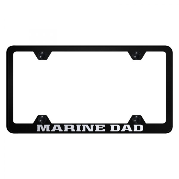 Autogold® - Wide Body License Plate Frame with Laser Etched Marine Dad Logo