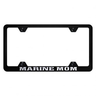 Autogold® - Wide Body License Plate Frame with Laser Etched Marine Mom Logo
