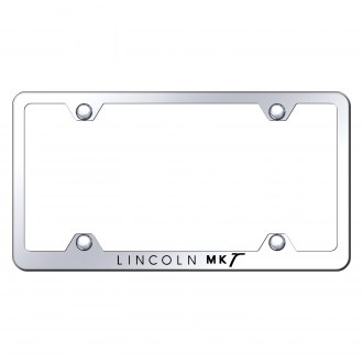 Autogold® - Wide Body Chrome License Plate Frame with Laser Etched MKT Logo