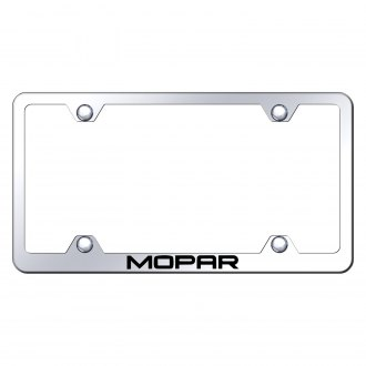 Autogold® - Wide Body Chrome License Plate Frame with Laser Etched Mopar Logo
