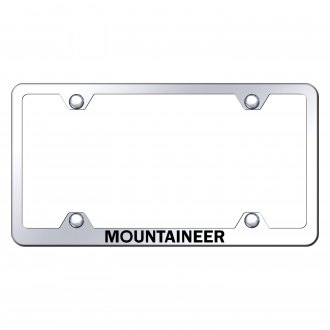 Autogold® - Wide Body Chrome License Plate Frame with Laser Etched Mountaineer Logo