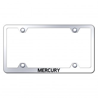 Autogold® - Wide Body Chrome License Plate Frame with Laser Etched Mercury Logo