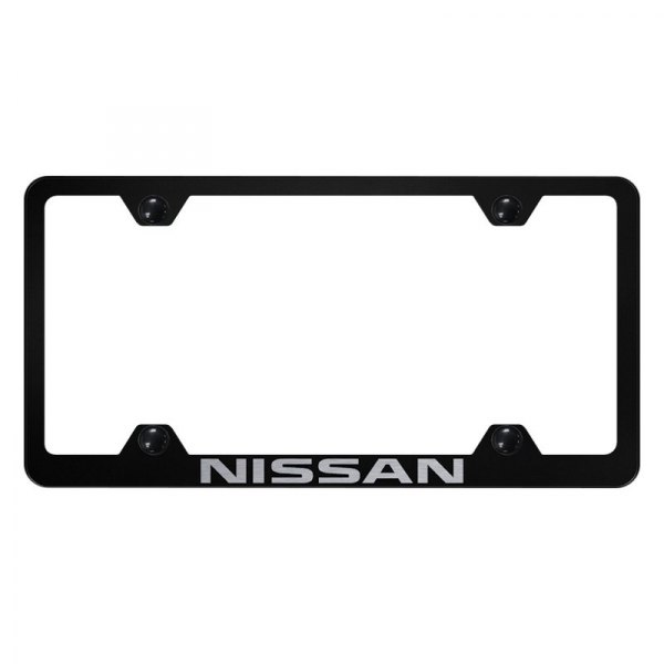 Autogold® - Wide Body License Plate Frame with Laser Etched Nissan Logo